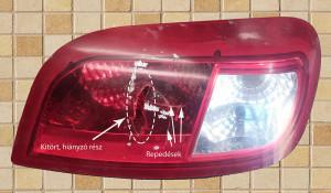 Hátsó lámpa javítás